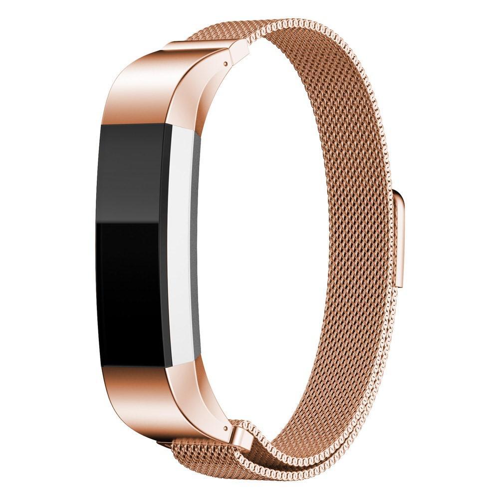 Armbånd Milanese Loop Fitbit Alta/Alta HR rosegull