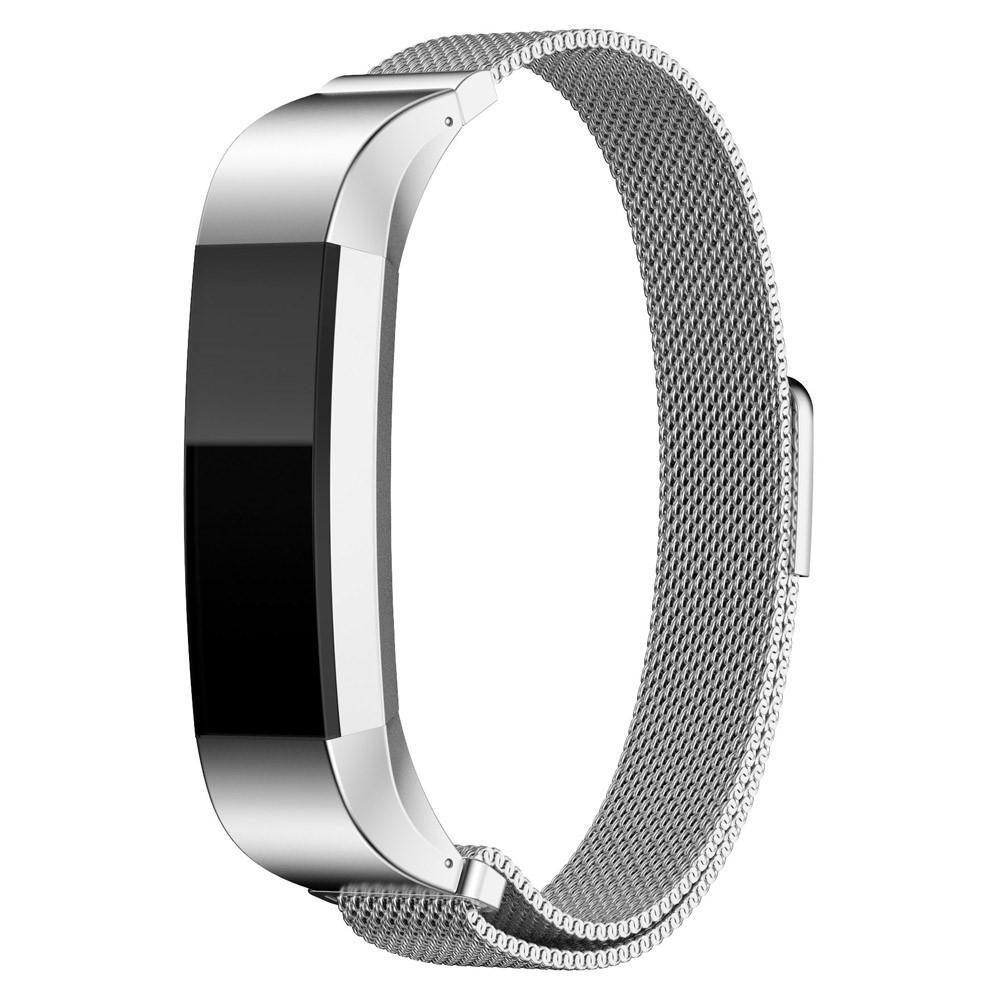 Armbånd Milanese Loop Fitbit Alta/Alta HR sølv