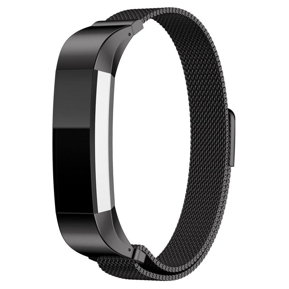 Armbånd Milanese Loop Fitbit Alta/Alta HR svart