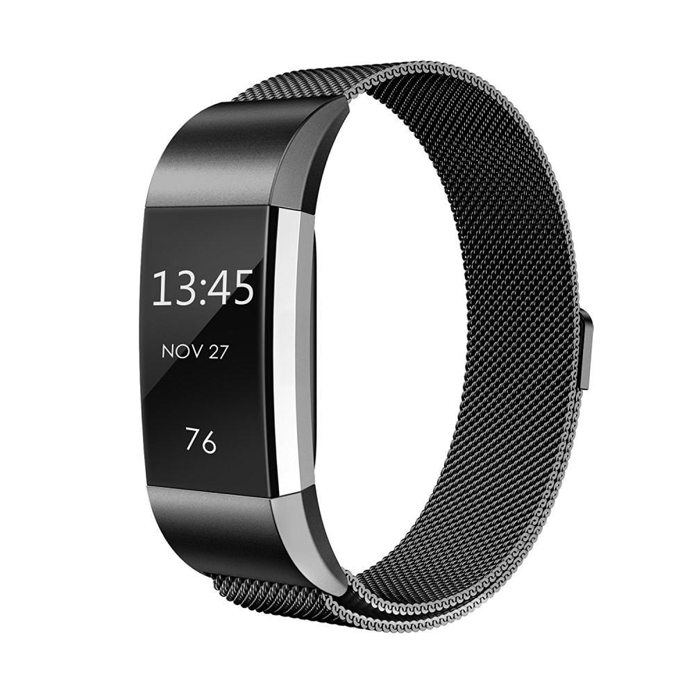 Armbånd Milanese Loop Fitbit Charge 2 svart