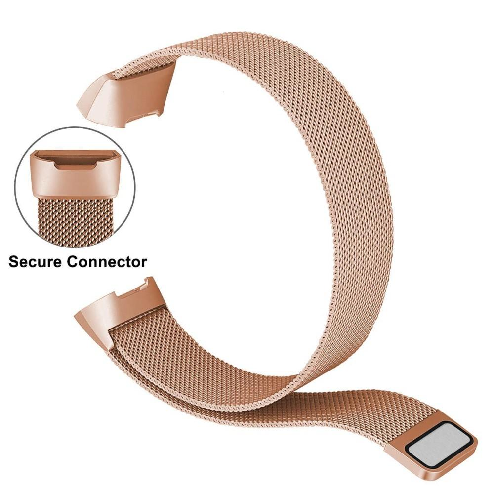 Armbånd Milanese Loop Fitbit Charge 3/4 rosegull