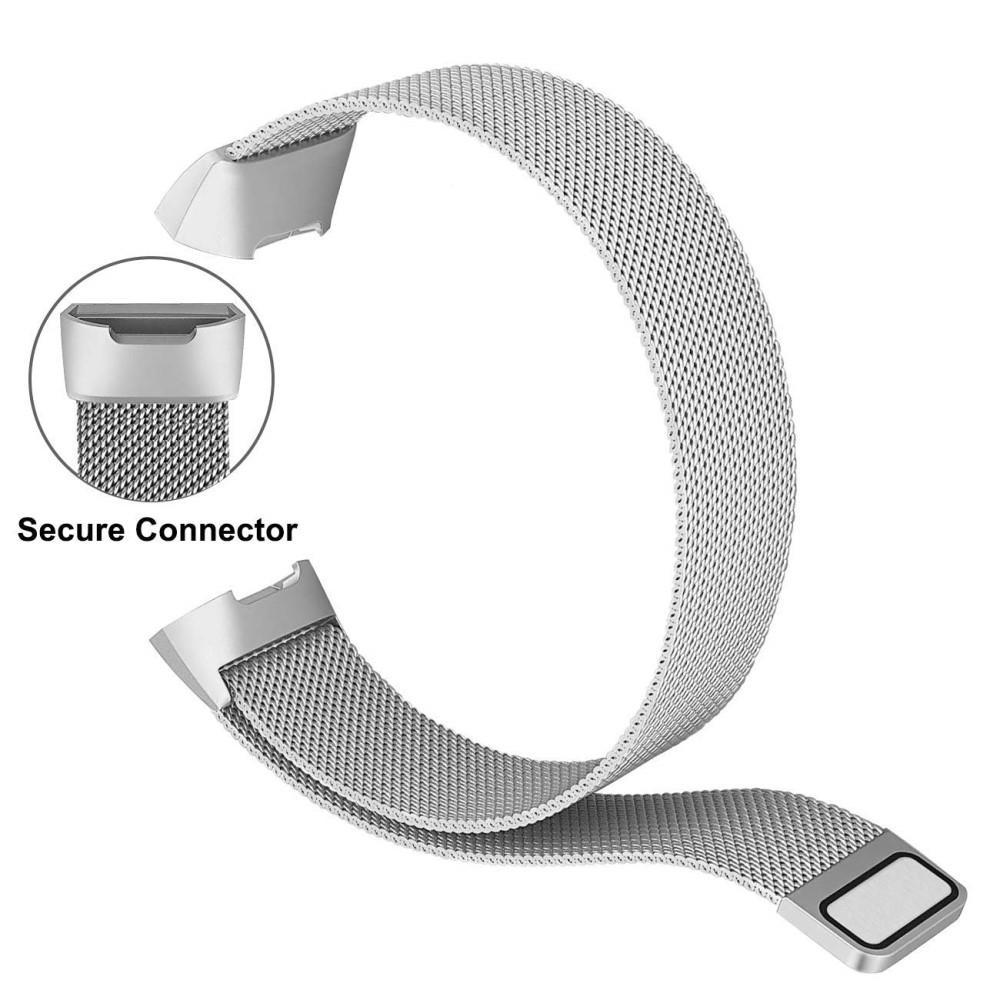 Armbånd Milanese Loop Fitbit Charge 3/4 sølv