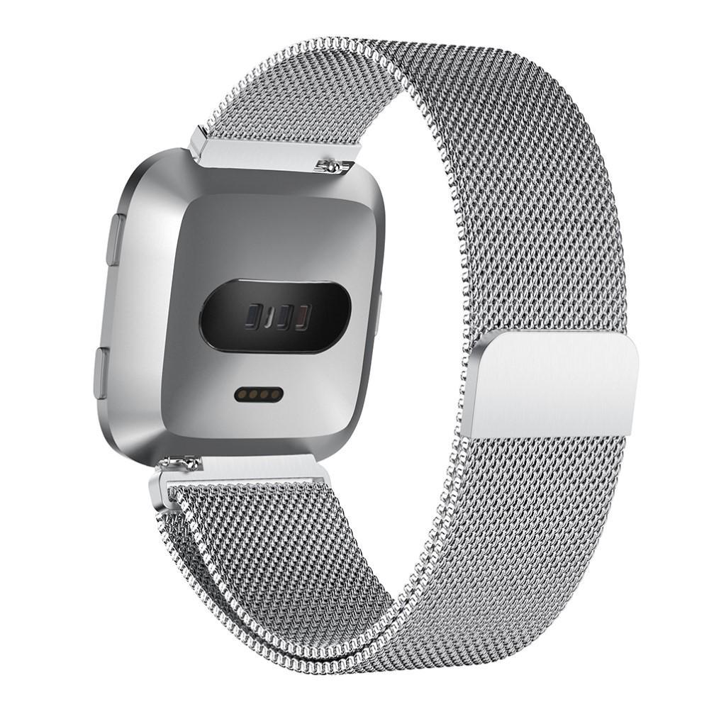 Armbånd Milanese Loop Fitbit Versa/Versa 2 sølv