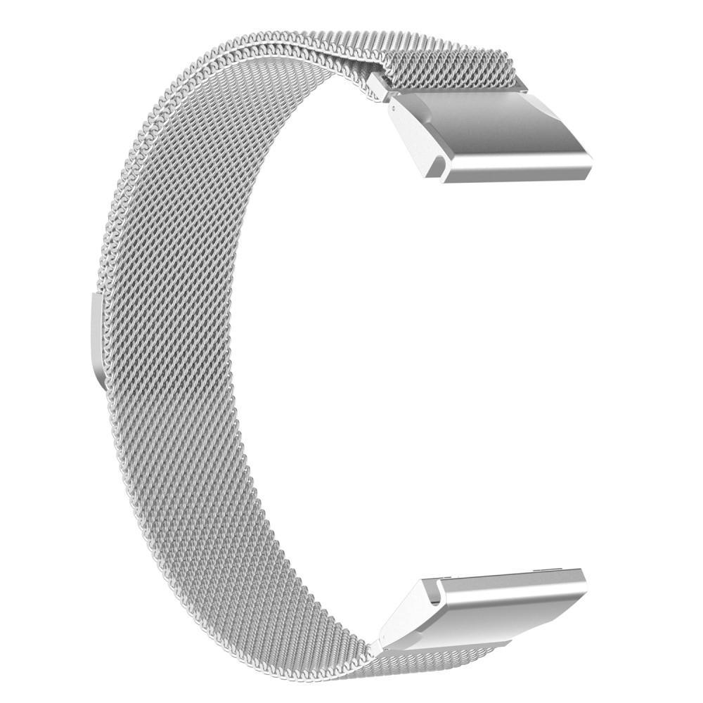 Armbånd Milanese Loop Garmin Fenix 5/5 Plus sølv
