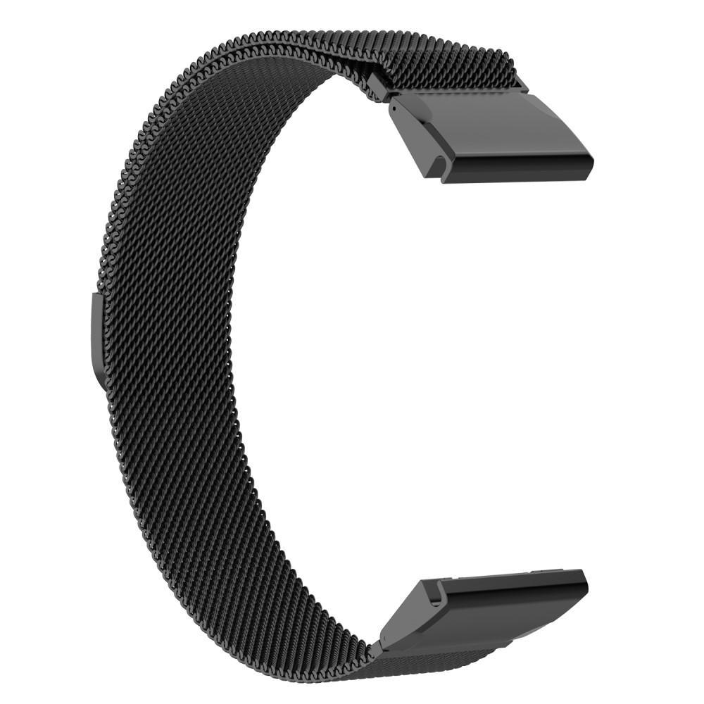 Armbånd Milanese Loop Garmin Fenix 5/5 Plus svart
