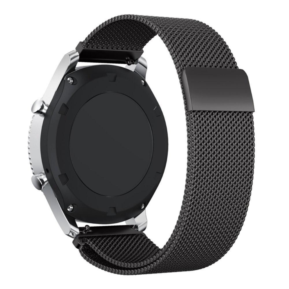 Armbånd Milanese Loop Gear S3 Frontier/S3 Classic svart