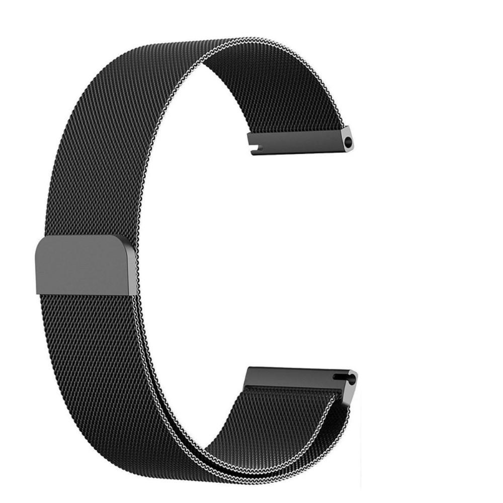 Armbånd Milanese Mobvoi Ticwatch Pro/S2/E2 svart