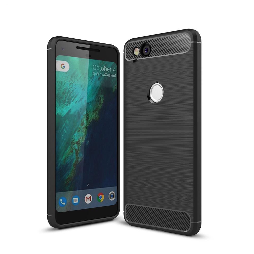 Brushed TPU Deksel Google Pixel 2 black