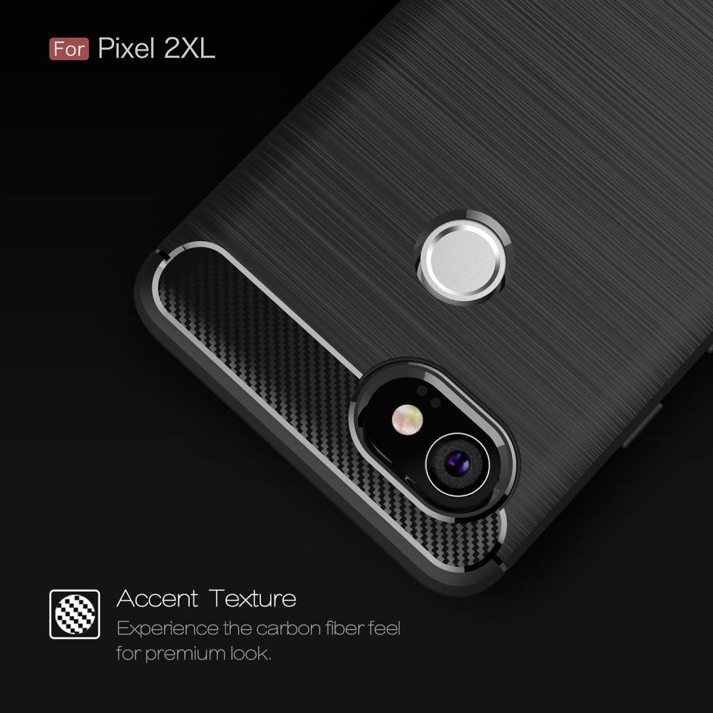 Brushed TPU Deksel Google Pixel 2 XL black