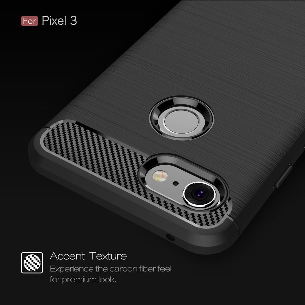 Brushed TPU Deksel Google Pixel 3 black