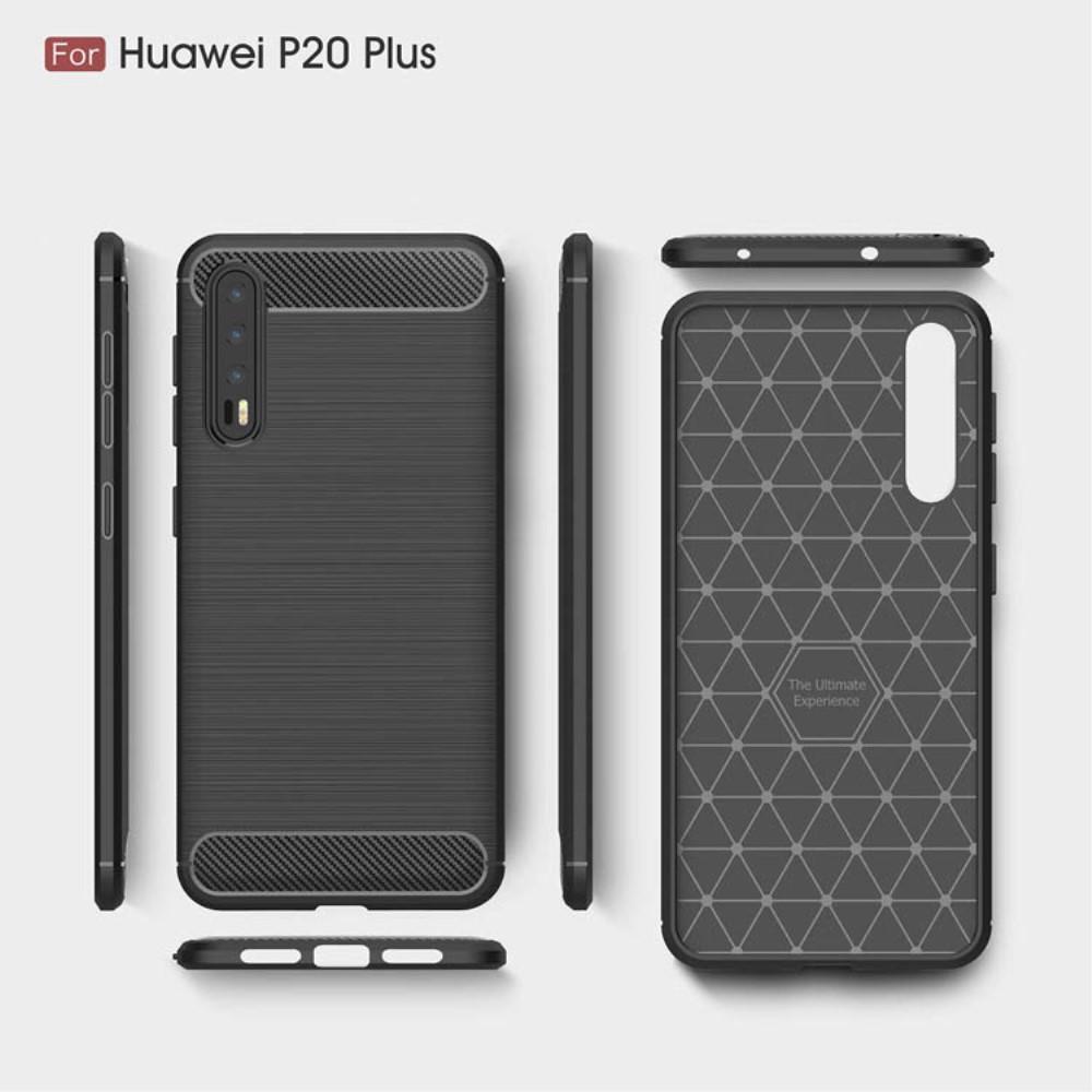 Brushed TPU Deksel Huawei P20 Pro black