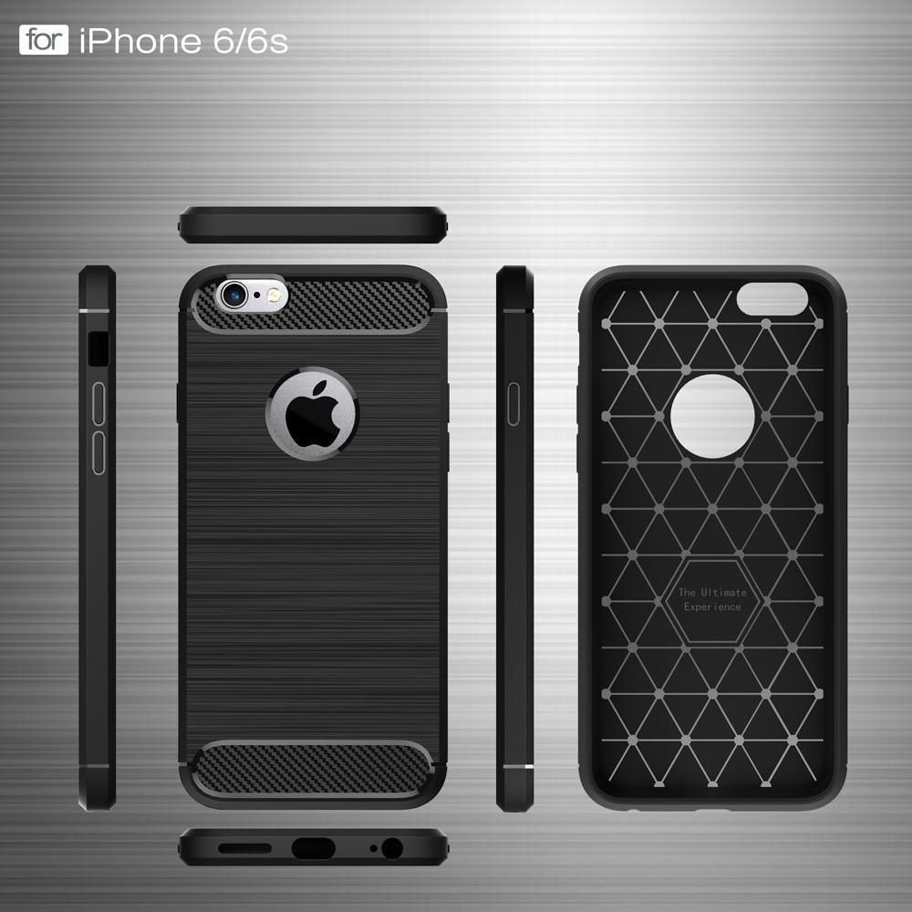 Brushed TPU Deksel iPhone 6 Plus/6S Plus black