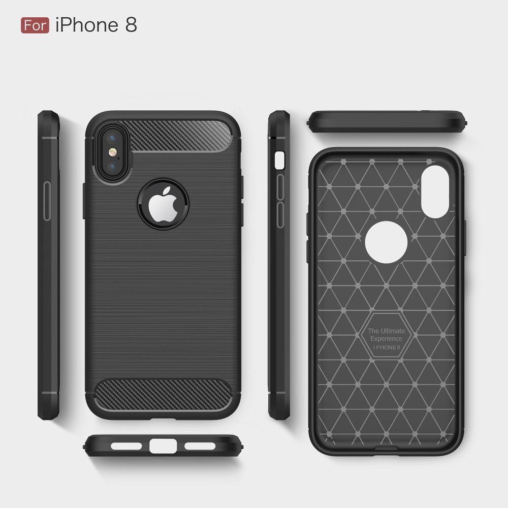 Brushed TPU Deksel iPhone X/XS black