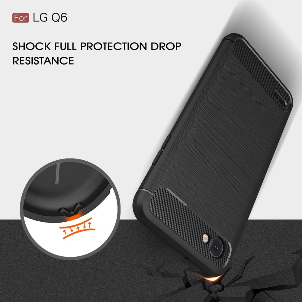 Brushed TPU Deksel LG Q6 black