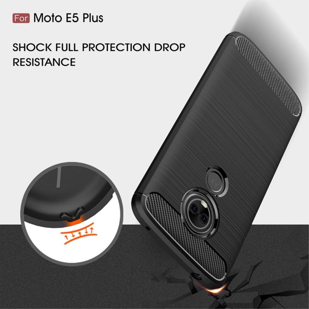 Brushed TPU Deksel Moto E5 Plus black