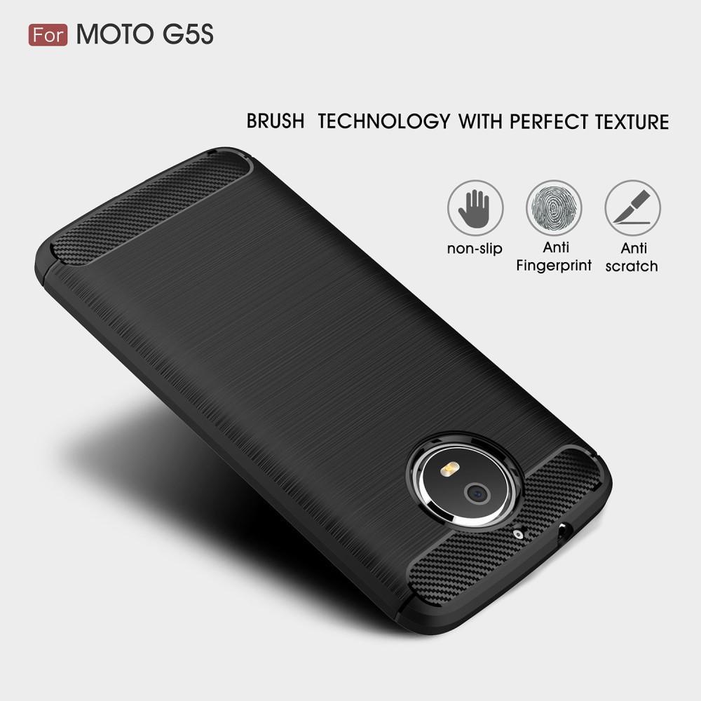 Brushed TPU Deksel Moto G5S black