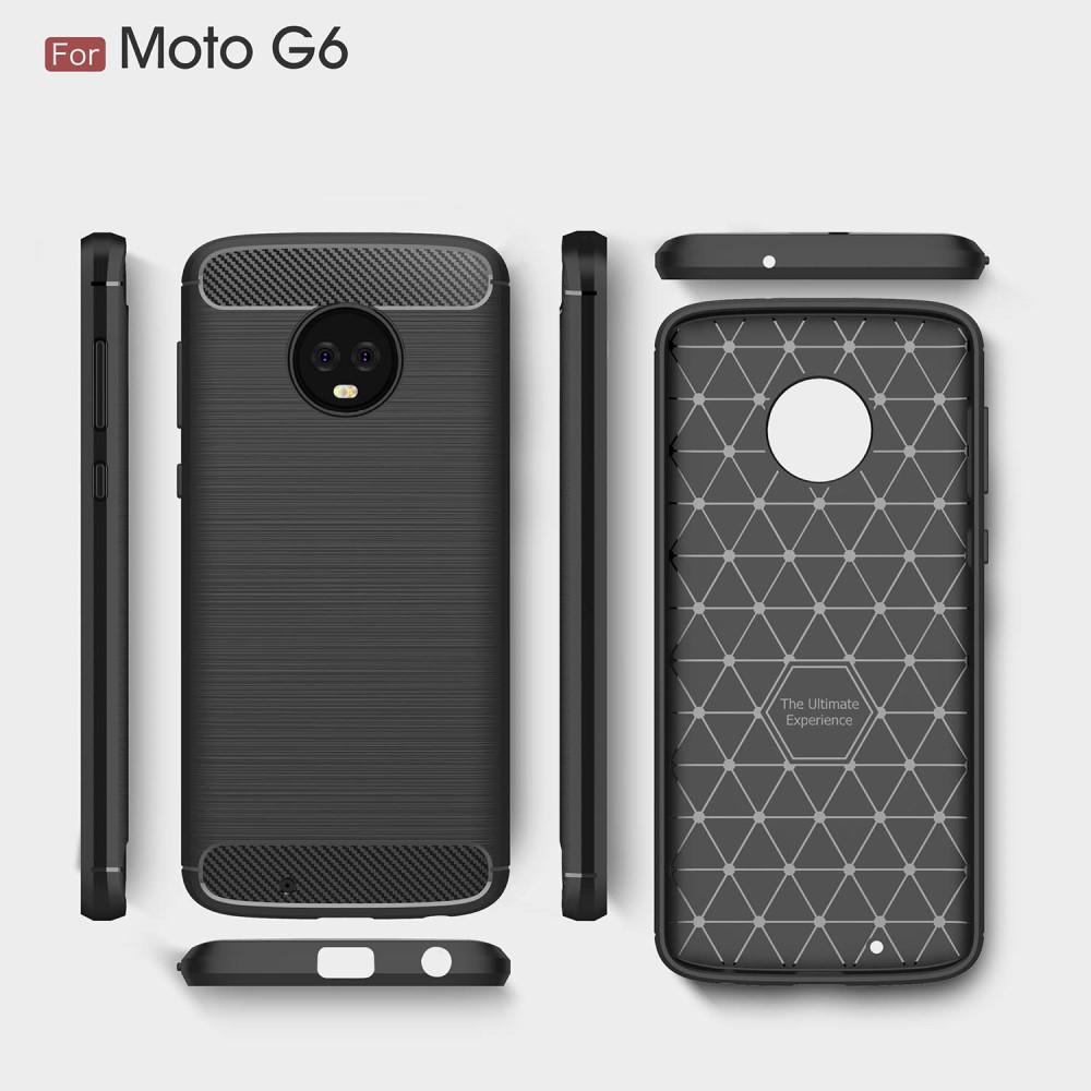 Brushed TPU Deksel Moto G6 black