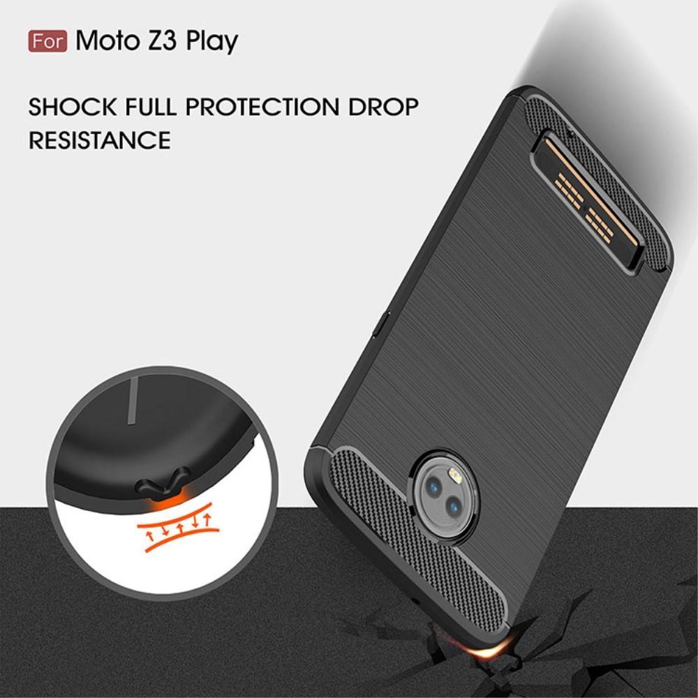 Brushed TPU Deksel Moto Z3 Play black