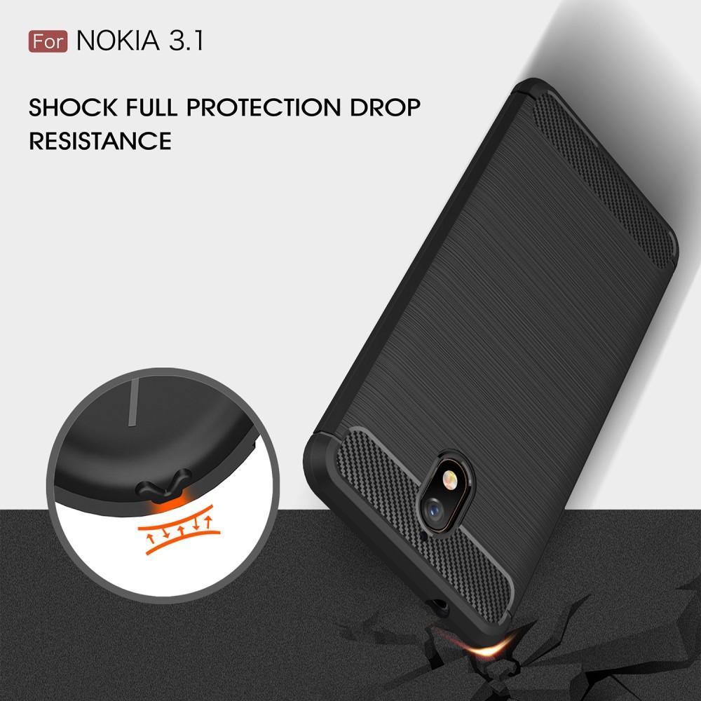 Brushed TPU Deksel Nokia 3.1 black
