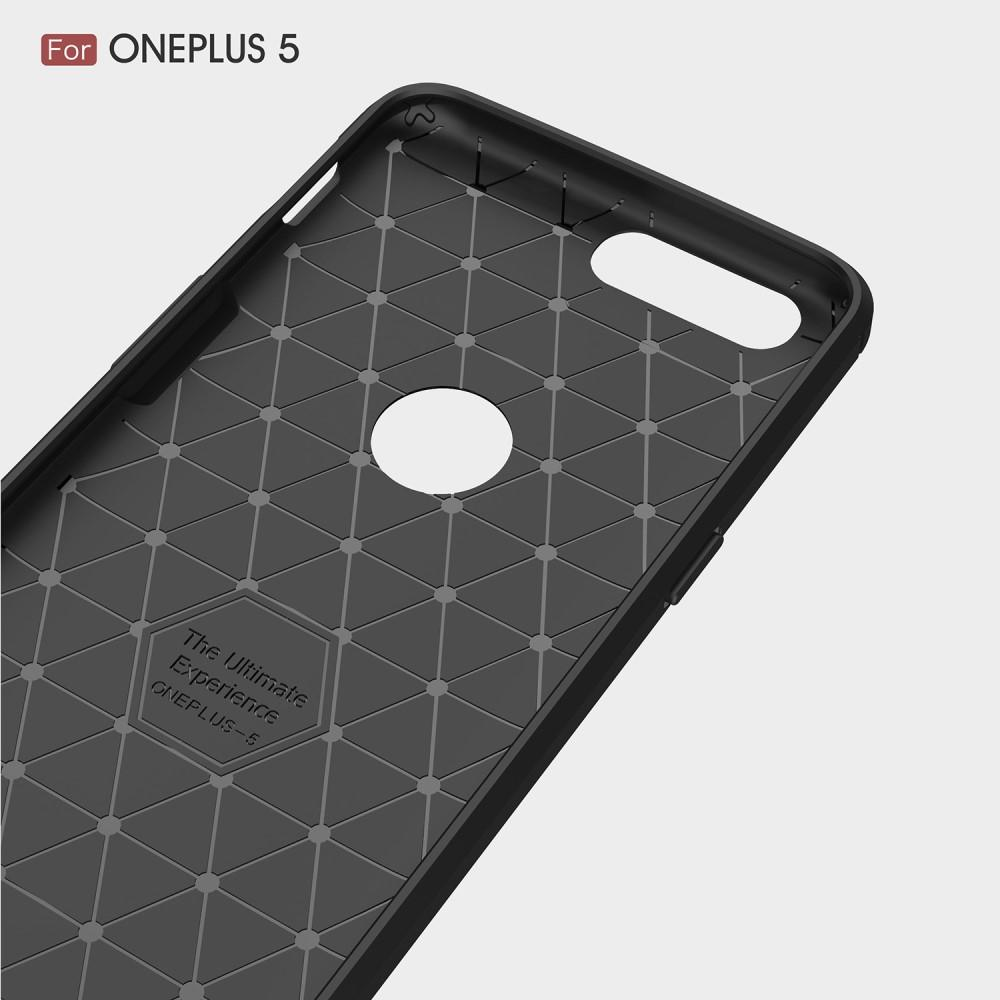 Brushed TPU Deksel OnePlus 5 black