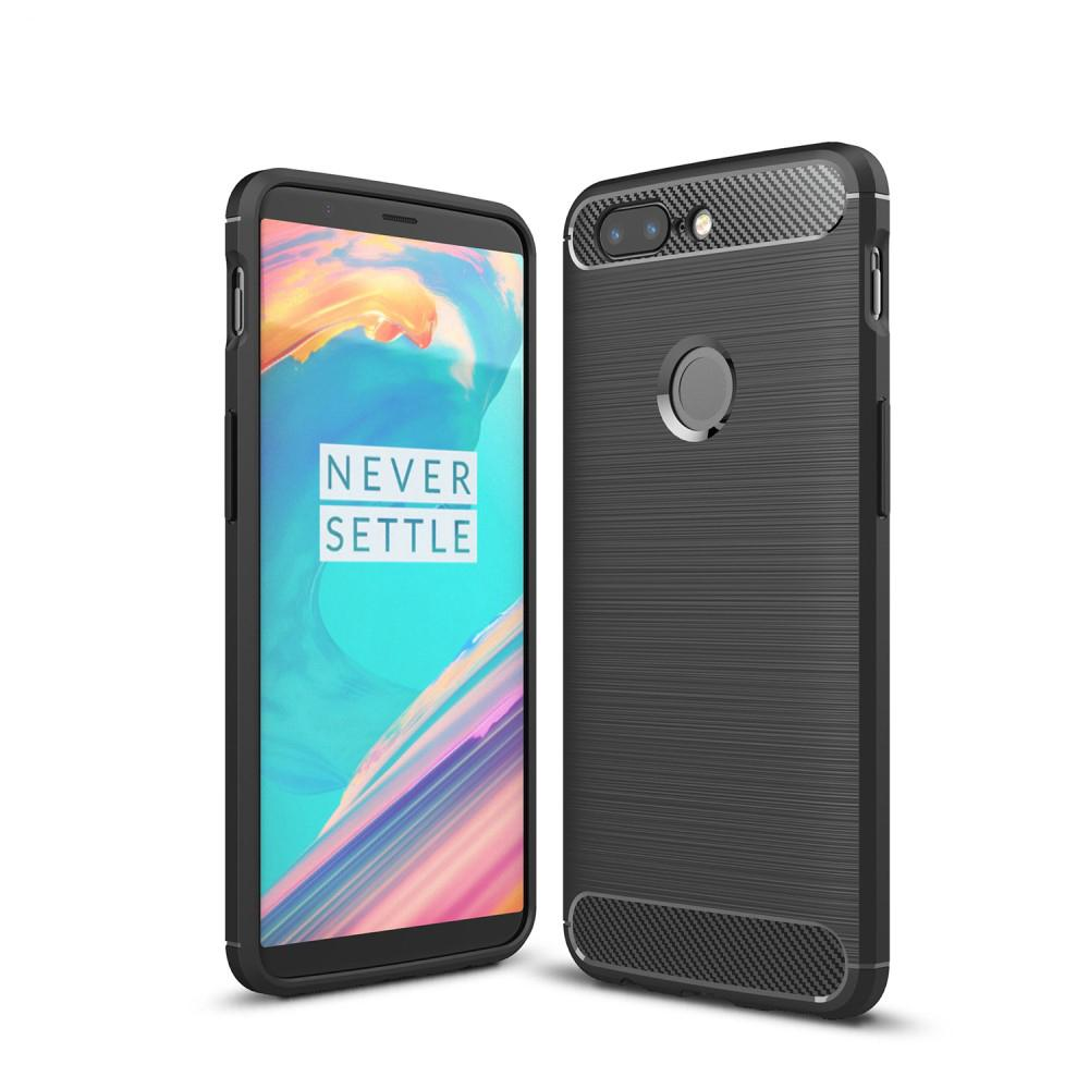 Brushed TPU Deksel OnePlus 5T black
