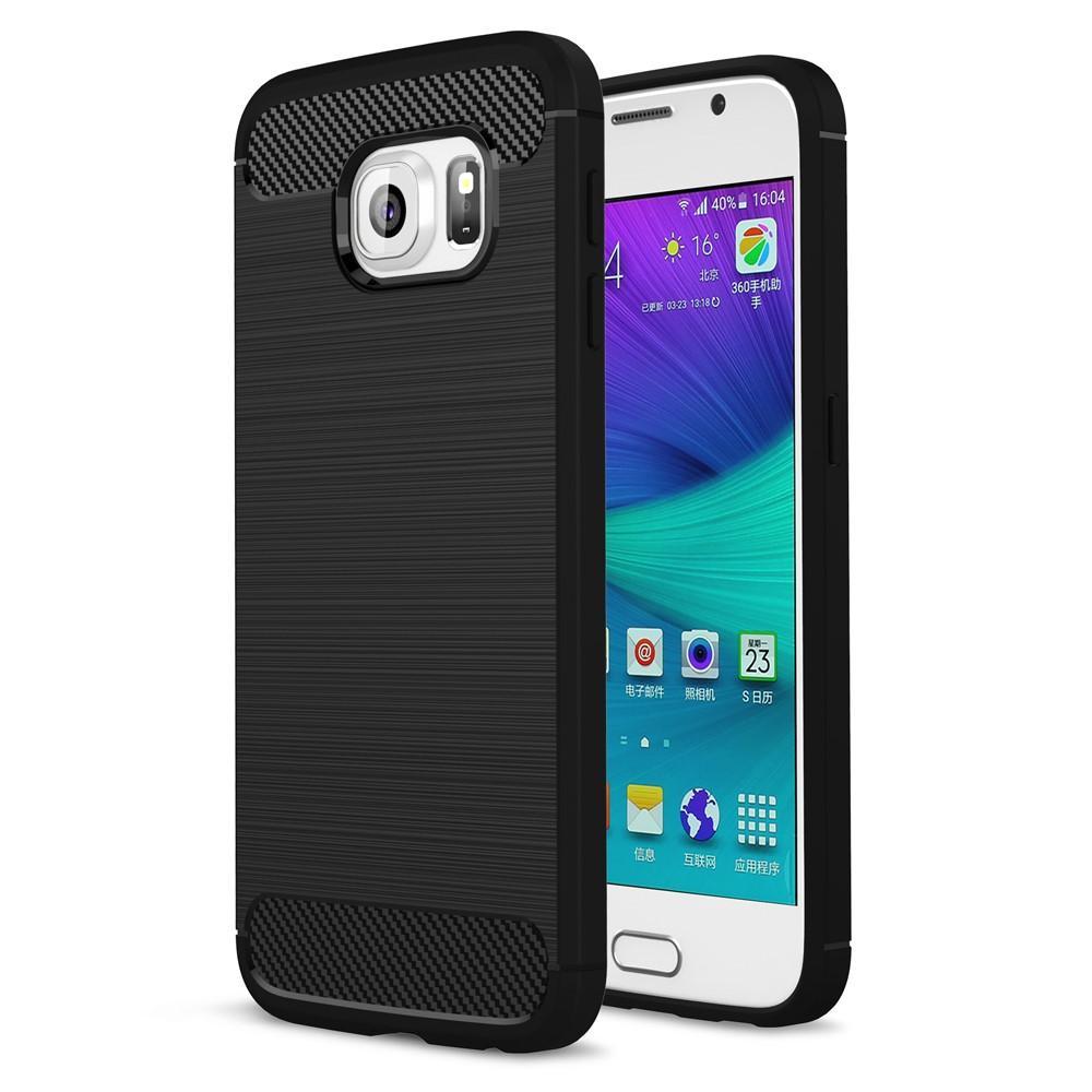 Brushed TPU Deksel Samsung Galaxy S6 black