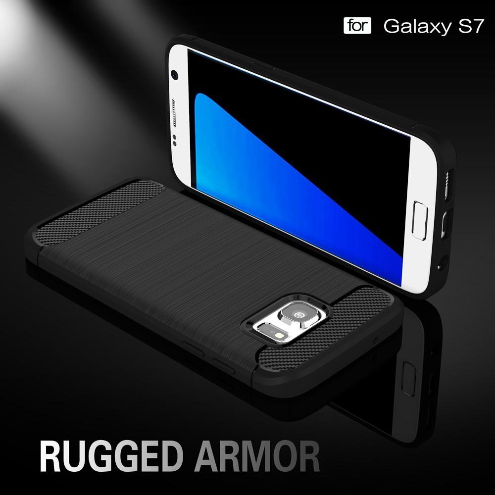 Brushed TPU Deksel Samsung Galaxy S7 black