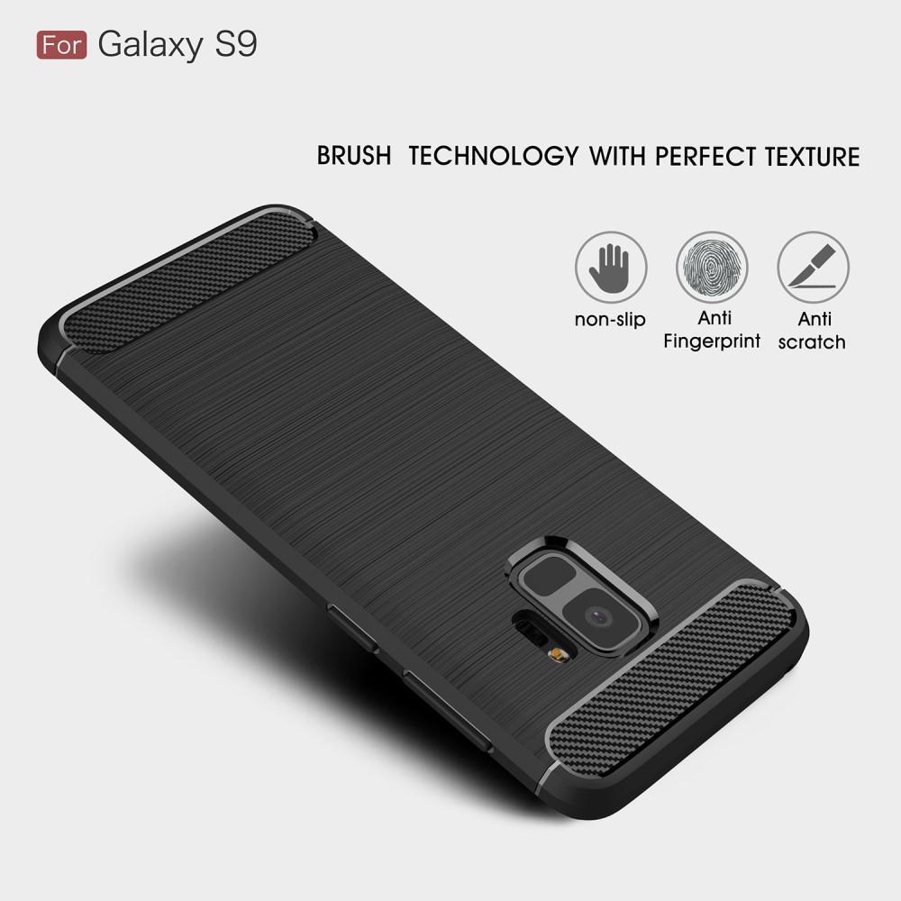 Brushed TPU Deksel Samsung Galaxy S9 black