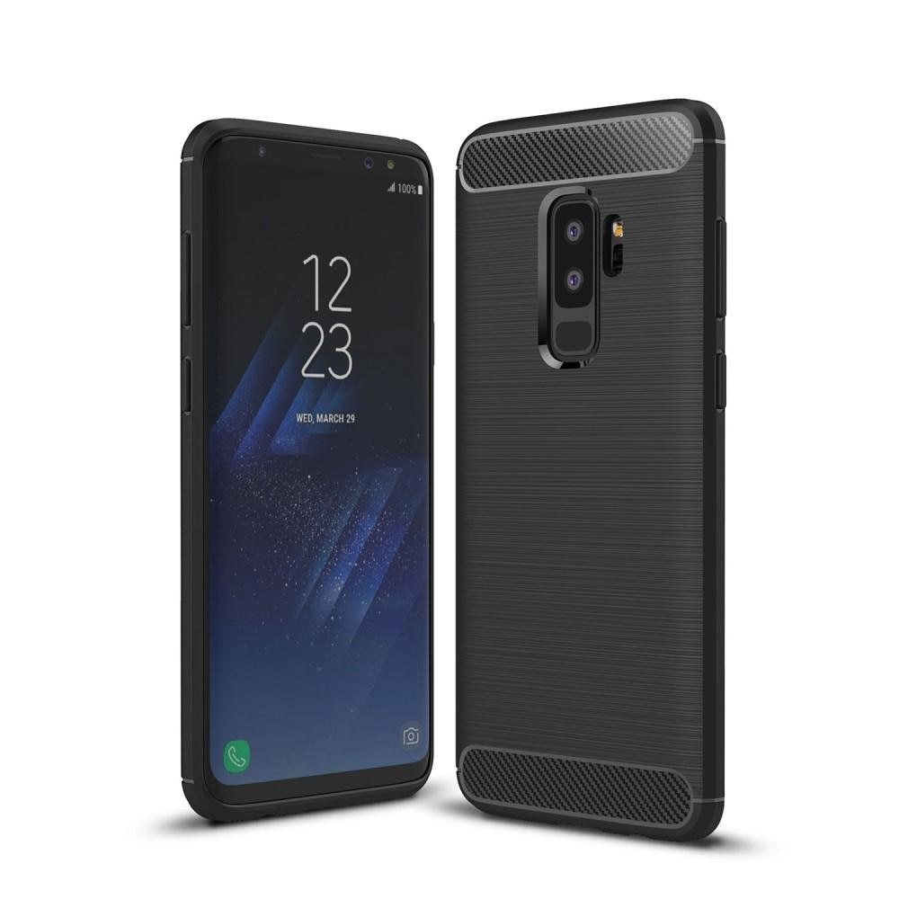 Brushed TPU Deksel Samsung Galaxy S9 Plus black