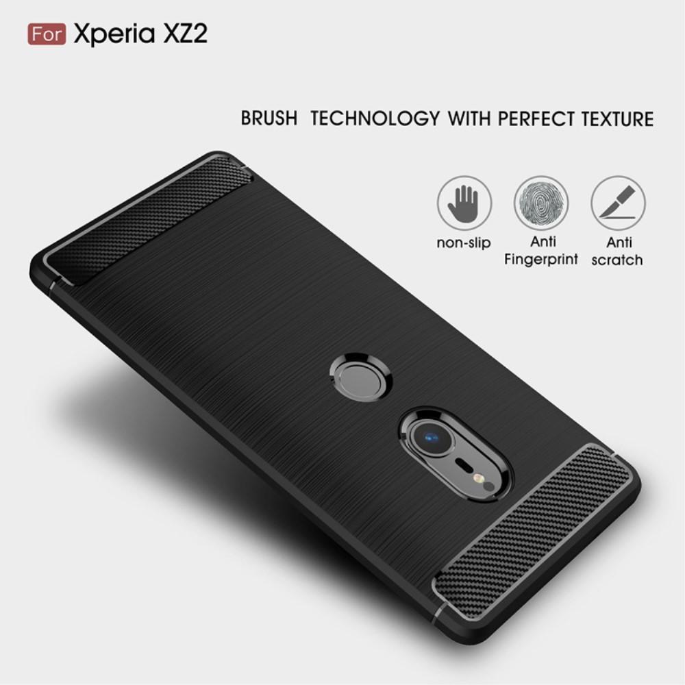 Brushed TPU Deksel Sony Xperia XZ2 black