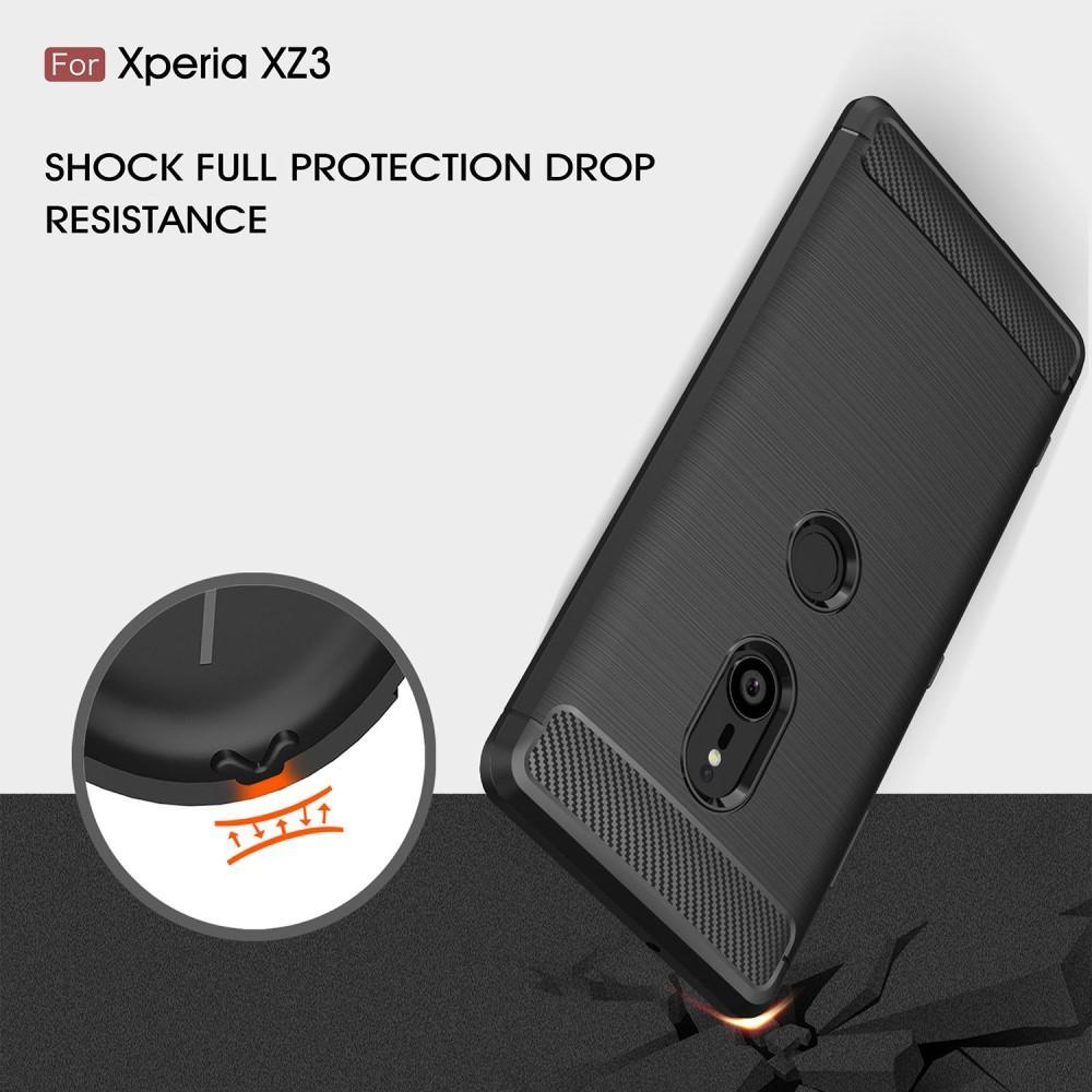 Brushed TPU Deksel Sony Xperia XZ3 black