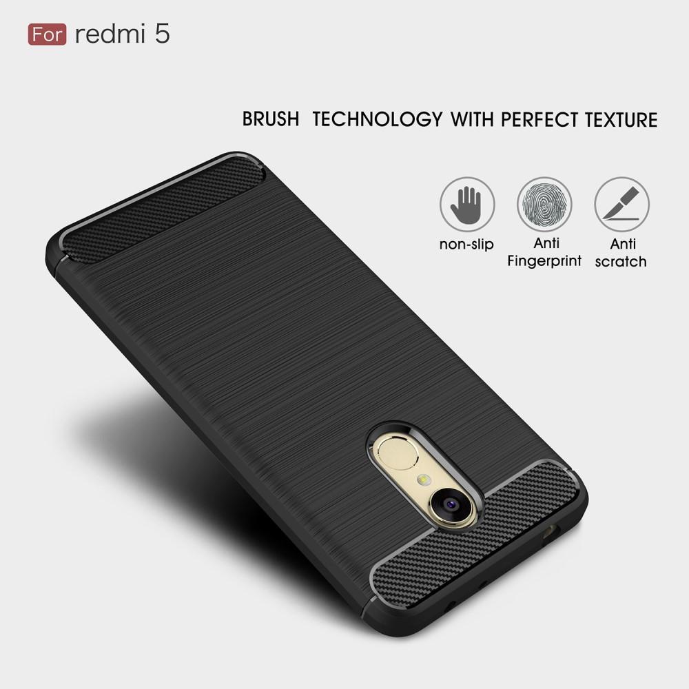 Brushed TPU Deksel Xiaomi Redmi 5 black