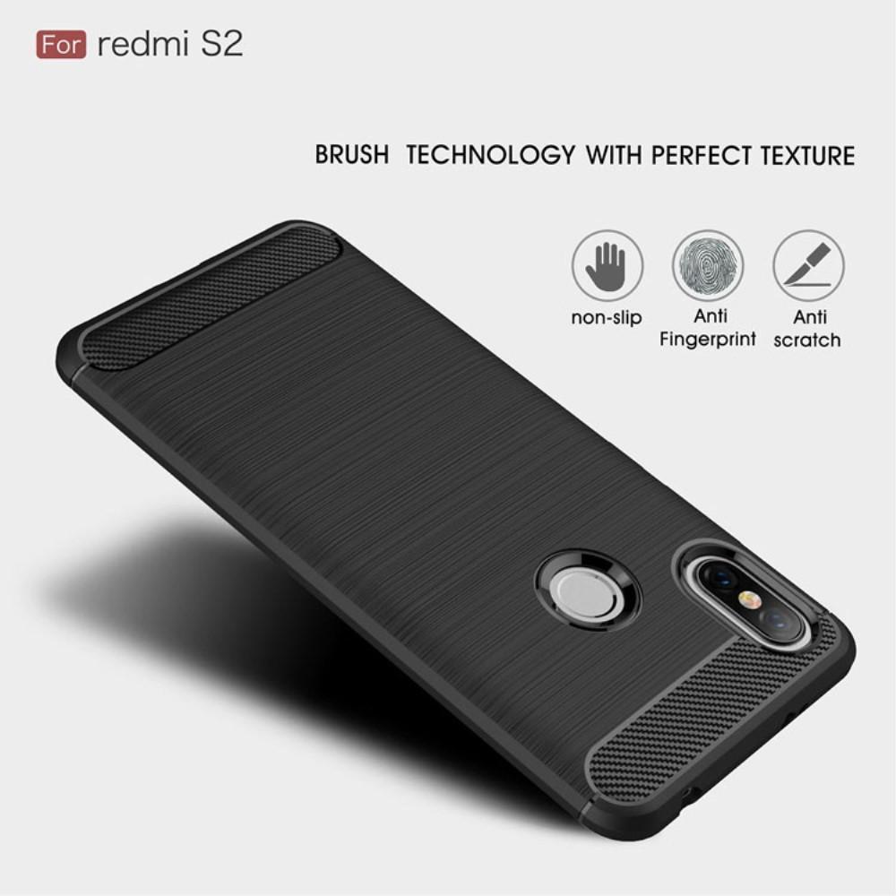 Brushed TPU Deksel Xiaomi Redmi S2 black