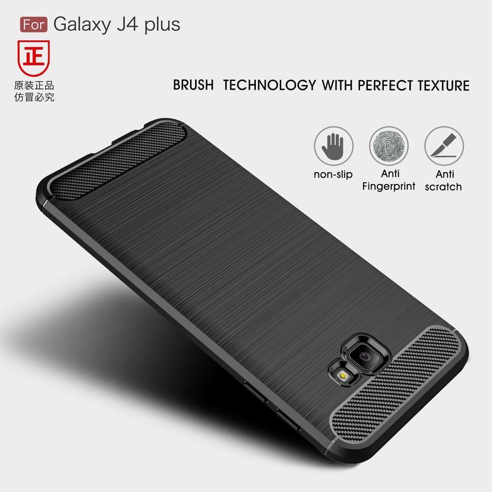 Brushed TPU Deksel Samsung Galaxy J4 Plus 2018 black