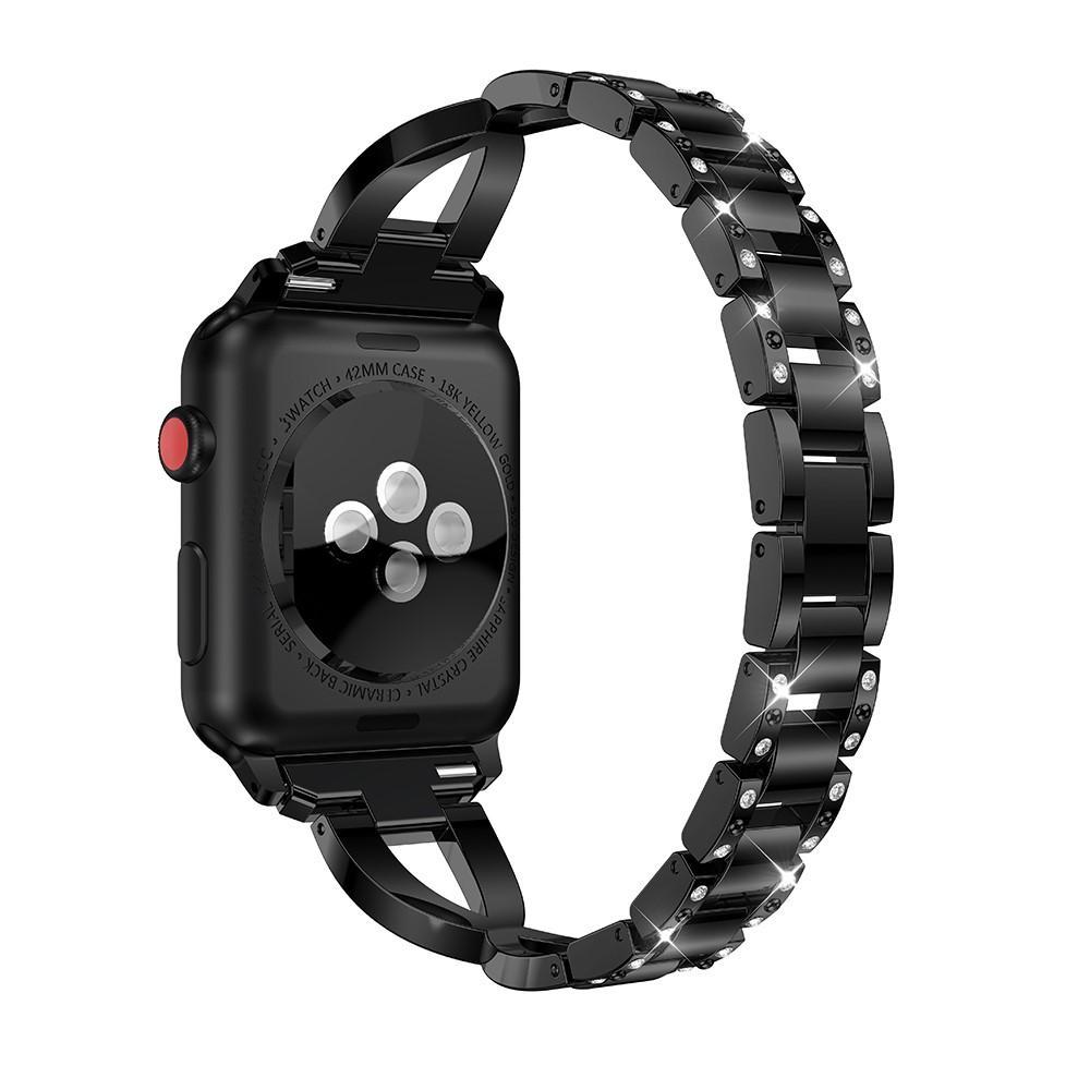 Crystal Bracelet Apple Watch 42/44/45 mm Black