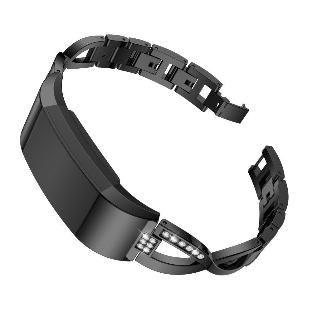 Crystal Bracelet Fitbit Charge 2 Black