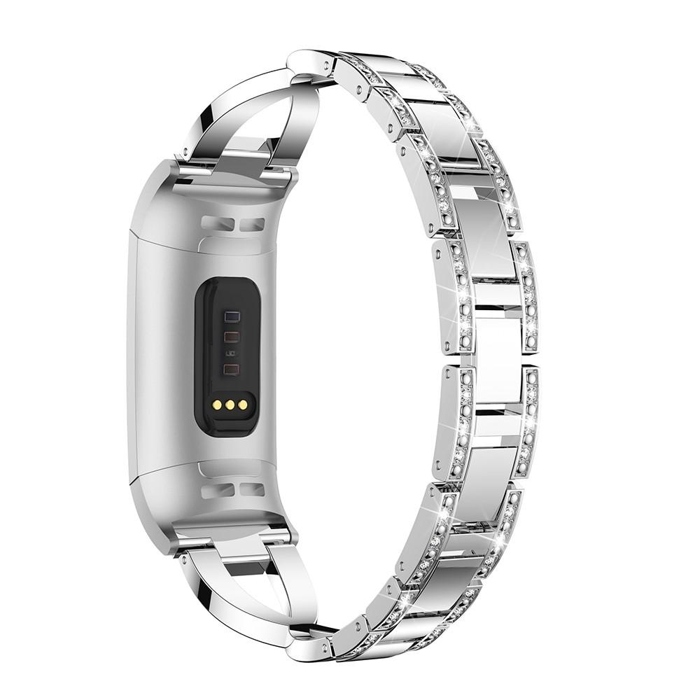 Crystal Bracelet Fitbit Charge 3/4 Silver