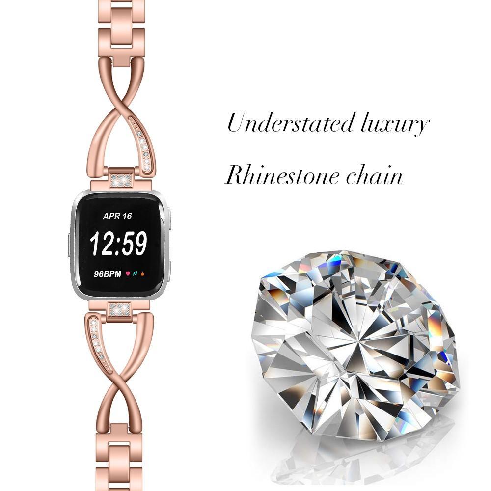 Crystal Bracelet Fitbit Versa/Versa 2 Rose Gold
