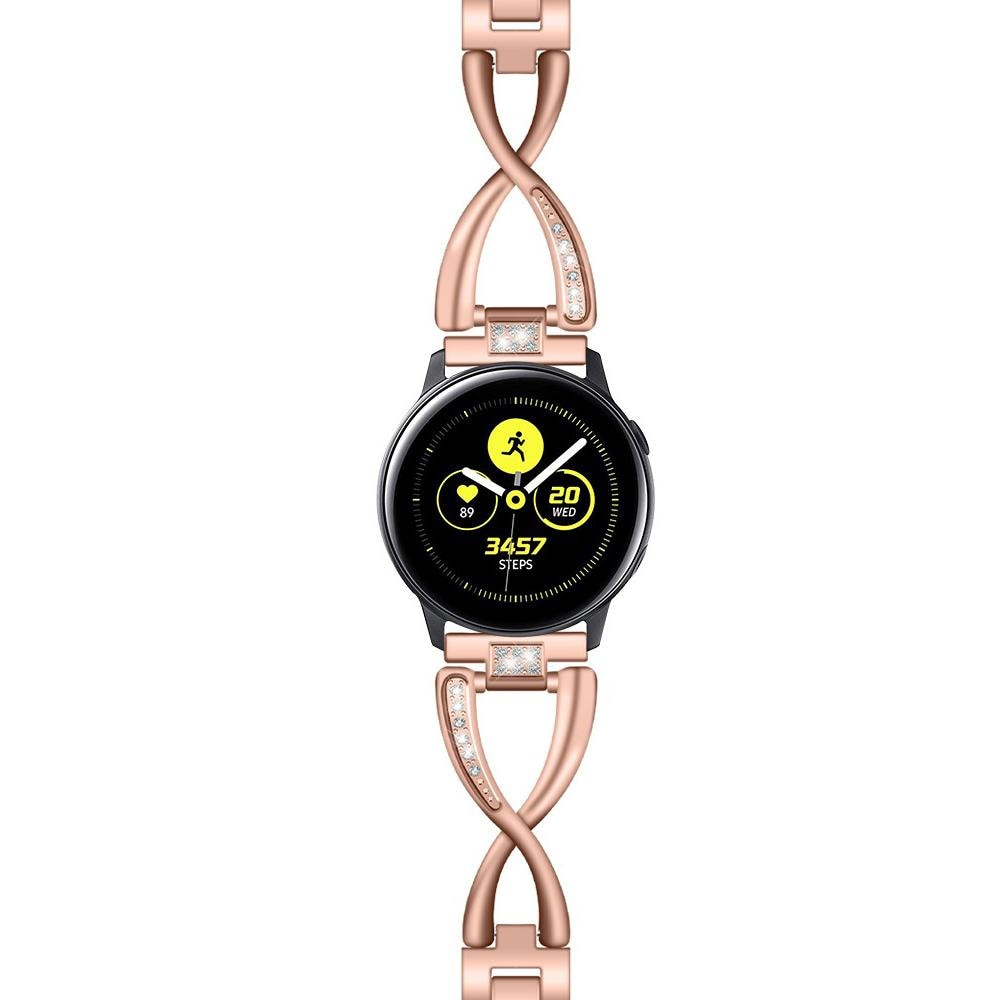 Crystal Bracelet Galaxy Watch 42mm/Active Rose Gold