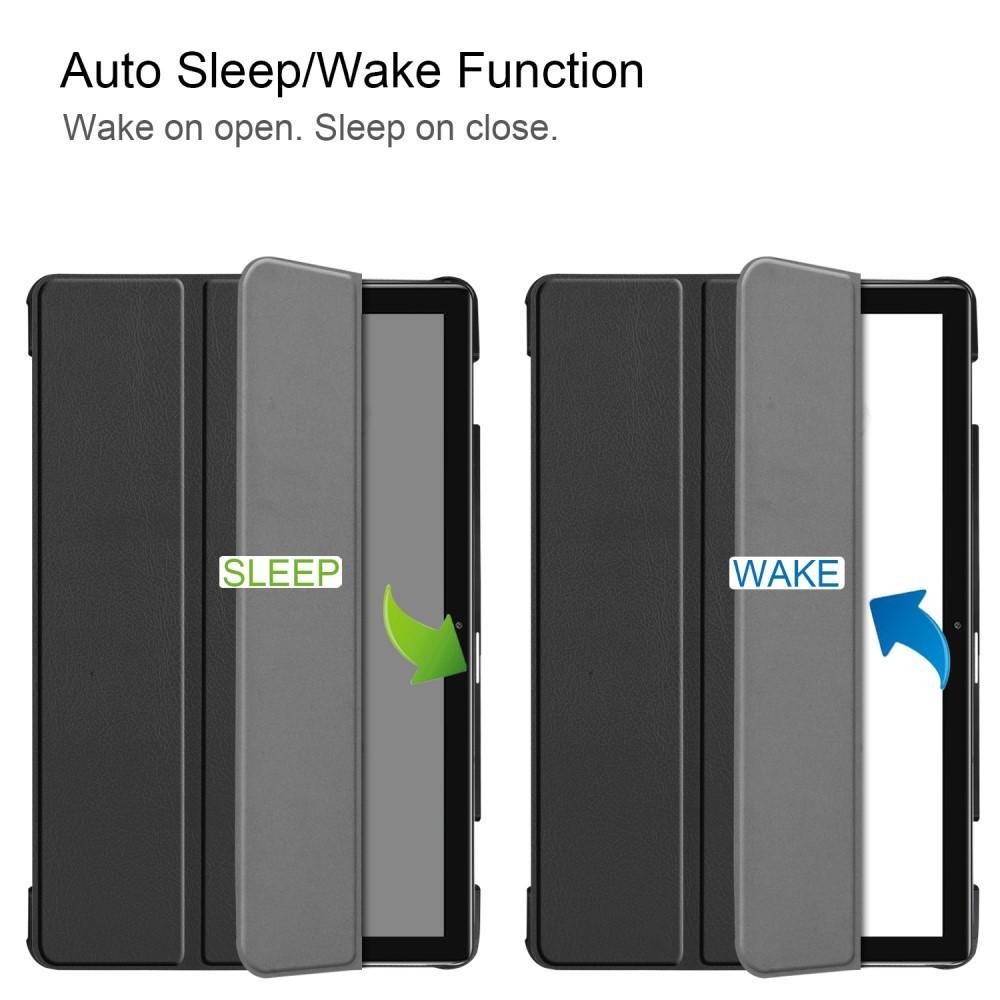 Etui Tri-fold Huawei MediaPad M6 10 svart