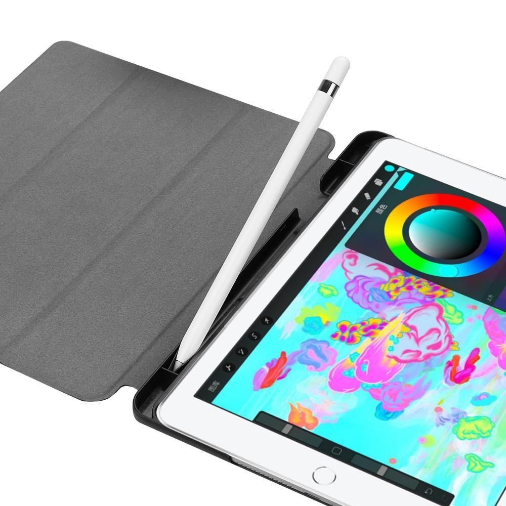 Etui Tri-fold Pencil-holder iPad 9.7 2017/2018 svart