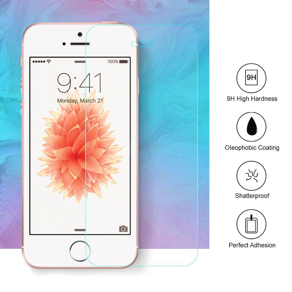 Herdet Glass 0.26mm Skjermbeskytter iPhone 5/5S/SE