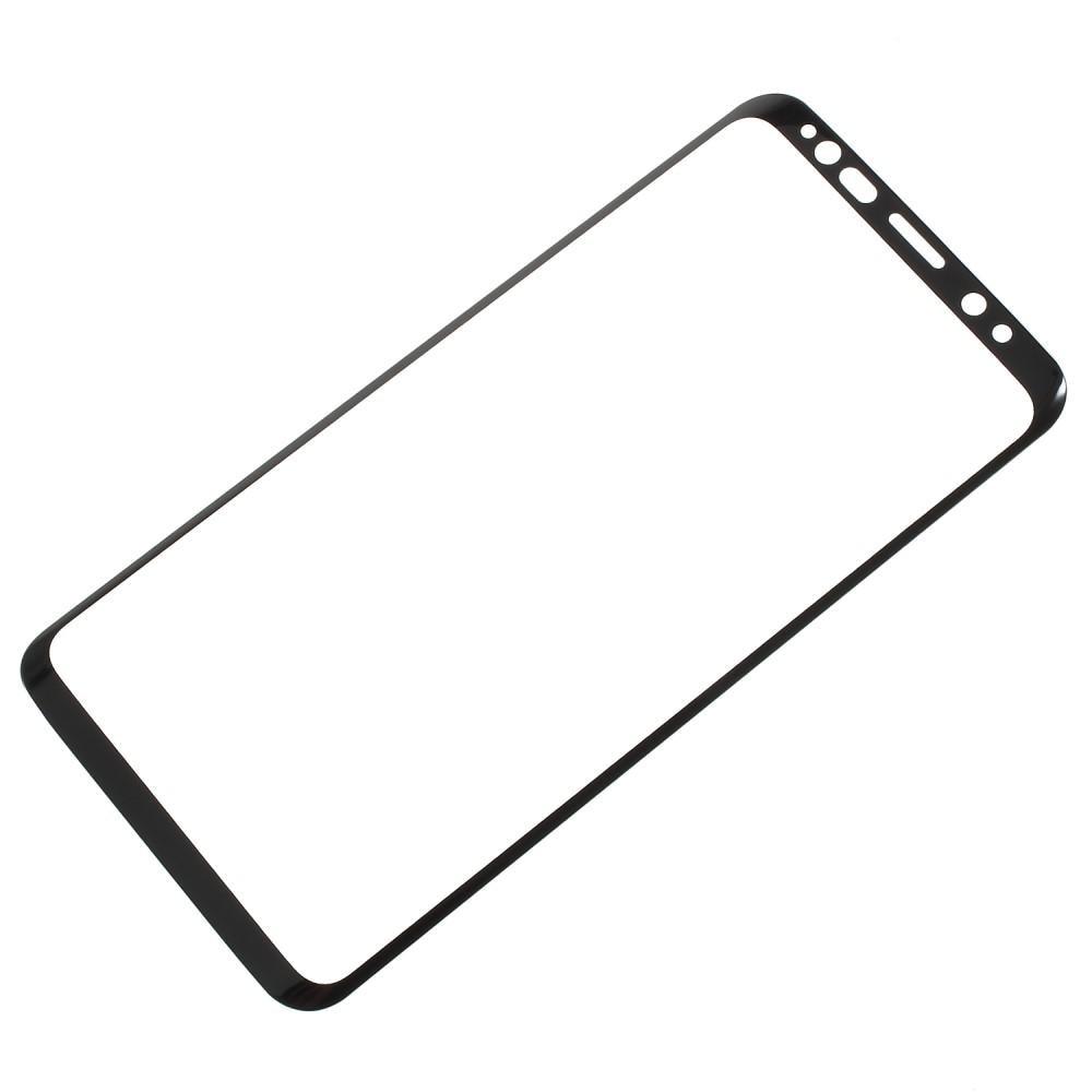 Heldekkende Skjermbeskytter Herdet Glass Galaxy S9 svart