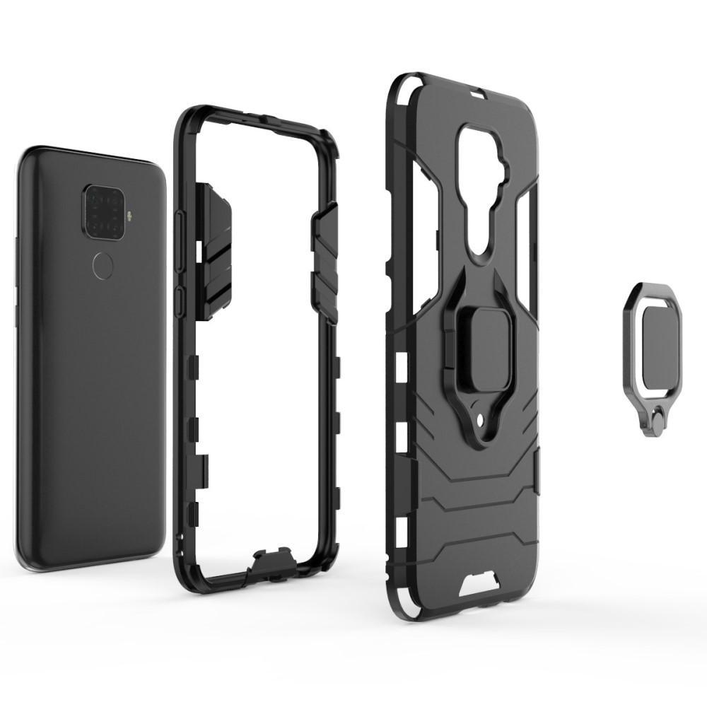 Hybriddeksel Tech Ring Huawei Mate 30 Lite svart