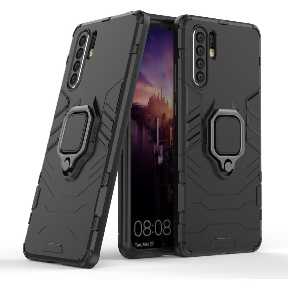 Hybriddeksel Tech Ring Huawei P30 Pro svart