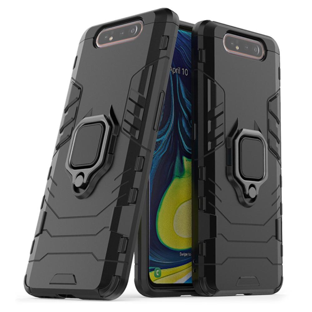 Hybriddeksel Tech Ring Samsung Galaxy A80 svart