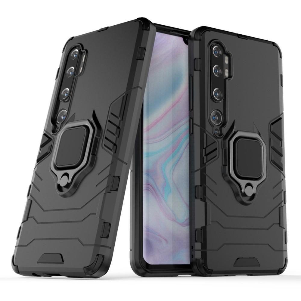 Hybriddeksel Tech Ring Xiaomi Mi Note 10/10 Pro svart