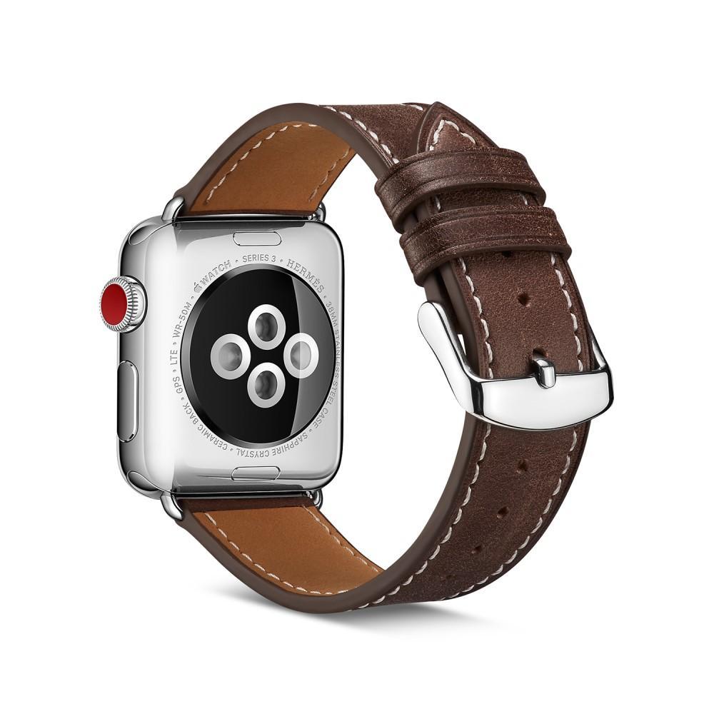 Lærarmbånd Apple Watch 38/40/41 mm brun