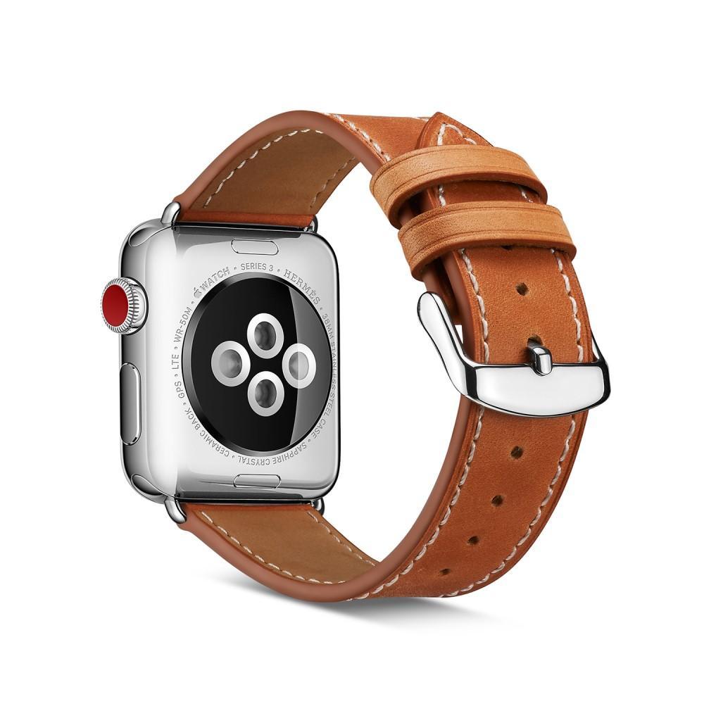 Lærarmbånd Apple Watch 38/40/41 mm cognac