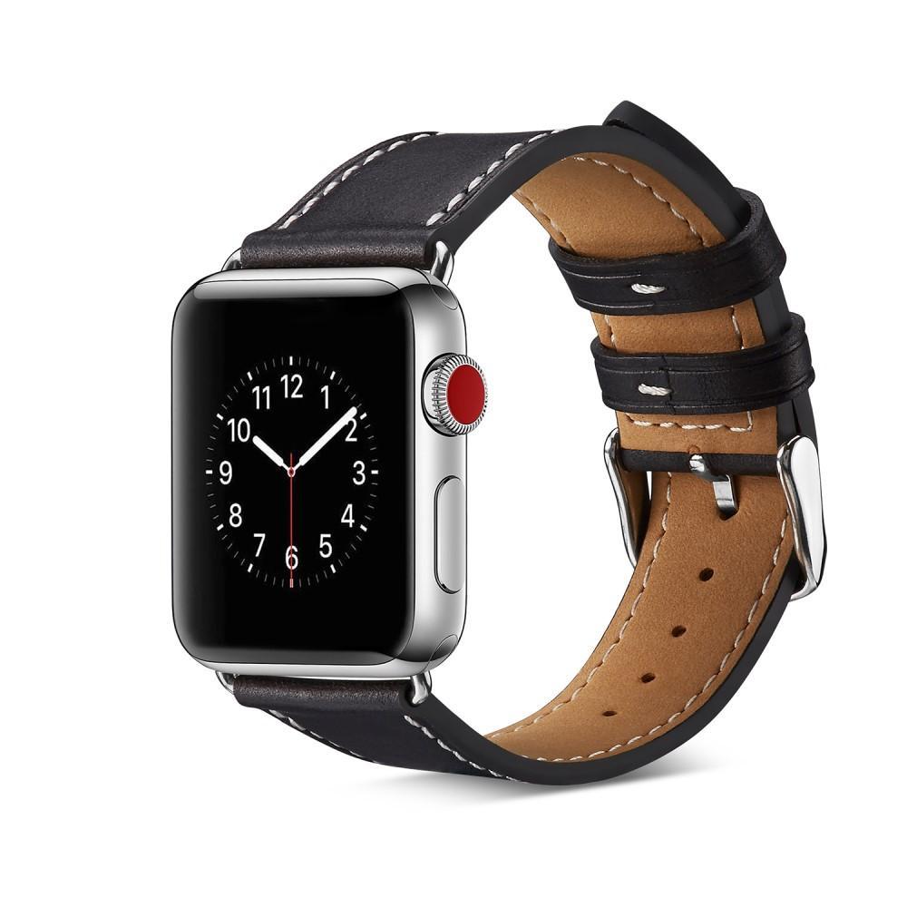 Lærarmbånd Apple Watch 38/40/41 mm svart